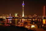 Imposing TV Tower In Dusseldorf Germany [Photo: Rainer Driesen]